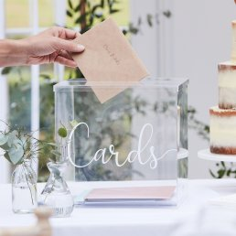 Kortlåda - Clear - Botanical Wedding