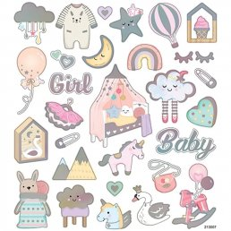 Stickers - 15x16,5cm - Baby Girl