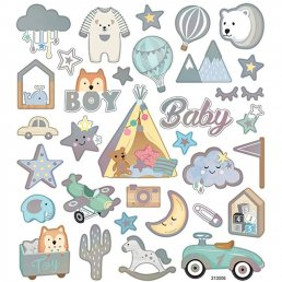 Stickers - 15x16,5cm - Baby Boy