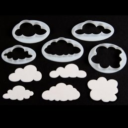 Utstickare - Fluffy Clouds - 5-pack