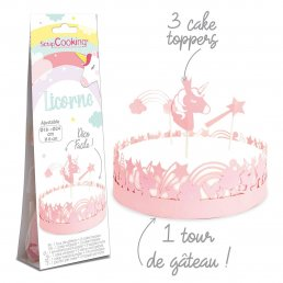 Cake wrapper & topper - Unicorn - ScrapCooking
