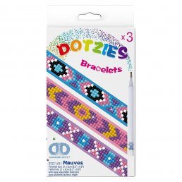 Diamond Dotz - 3-pack - Armband