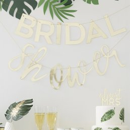 Backdrop - Bridal Shower - Guld