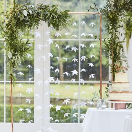 Backdrop - Vita blommor - Botanical Wedding