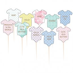 Cake Picks - Babybodys - Pastell
