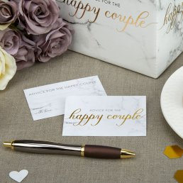 Wedding Wishes - Scripted Marble