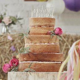 Cake Topper - Boho - Just Married