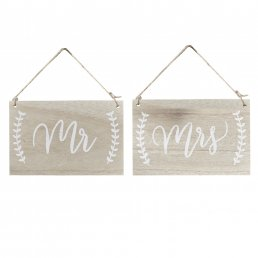 Skyltar  - Boho - Mr & Mrs