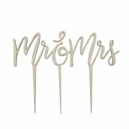 Cake Topper - Boho - Mr & Mrs