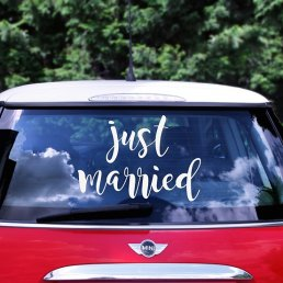 Bilstickers - Just Married