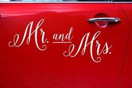 Bilstickers - Mr & Mrs