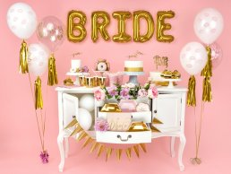 Ballonger - Bride to be - Clear/Guld