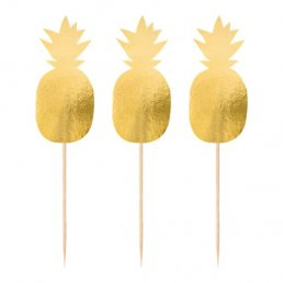 Cake Picks - Pineapple - Guld