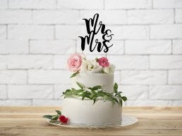 Cake Topper - Mr & Mrs - Svart