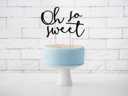 Cake Topper - Oh So Sweet - Svart