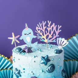 Cake toppers - Narwhal Party