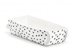 Snack Trays - Dotty - Svart/Vit