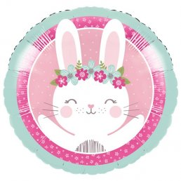 Folieballong - Birthday Bunny