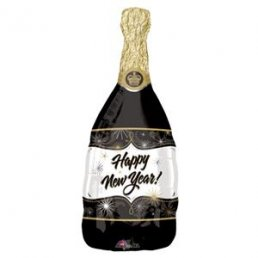 Folieballong - Champagne - Happy New Year