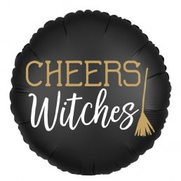 Folieballong - Witch Please/Cheers Witches