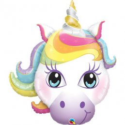 Folieballong - Magic Unicorn - Pastell