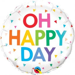 Folieballong - Oh happy Day - Rainbow