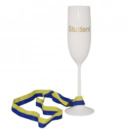 Champagneglas med band - Student