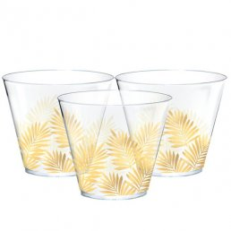Glas - Tropical Leaves - Guld
