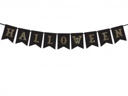 Vimpel - Halloween - Black & Gold