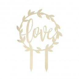 Cake topper - Love - Gold wedding