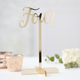 Bordsnumrering - Gold wedding