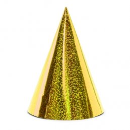 Partyhattar - Holographic - Guld