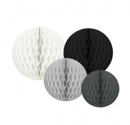 Honeycombs - 4-pack - Svart Mix
