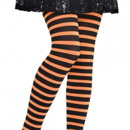 Barntights - One Size - Svart/Orange
