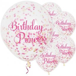 Konfettiballonger - Birthday Princess