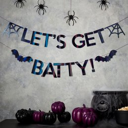 Girlang - Let's get Batty - Svart/Iridescent