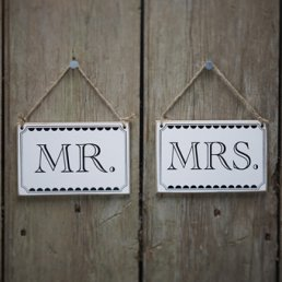Skyltar - Mr & Mrs - Vintage Affair
