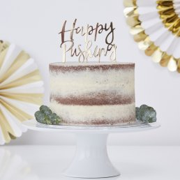 Cake Topper - Happy Pushing