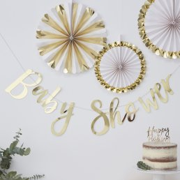 Backdrop - Baby Shower - Guld