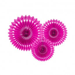Pin Wheels - 3-pack - Hot Pink