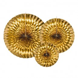 Pin Wheels - 3-pack - Guldmetallic
