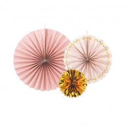 Pin Wheels - 3-pack - Guld/Rosa/Polka dot