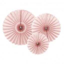 Pin wheels - 3-pack - Dusty rose