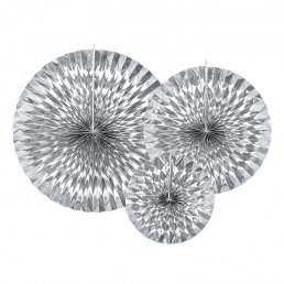 Pin Wheels - 3-pack - Silvermetallic