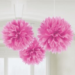 Pom Pom - 3-pack - Hot Pink