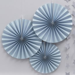 Pin Wheels - 3-pack - Pastel Blue