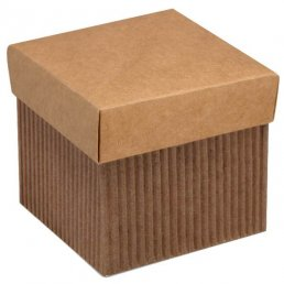 Presentask - 10-pack - Kraft med lock