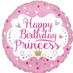 Folieballong - Happy Birthday Princess