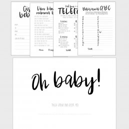 Kit till baby shower - Svart/Vit