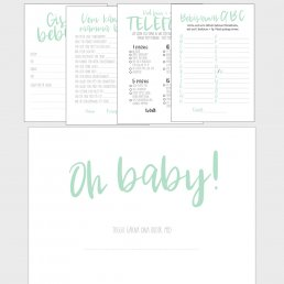 Kit till Baby shower - Mint